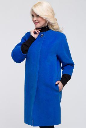 Пальто средней длины оверсайз из шерсти с ангорой
