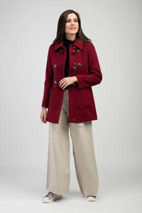 Приталенное кашемировое молодежное пальто на весну из Италии