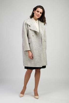 Женское двубортное пальто из альпака российского производства