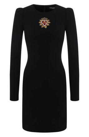 Мини-платье из вискозы Dolce & Gabbana