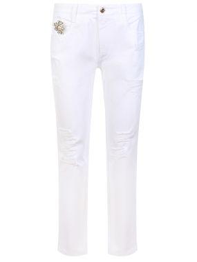 Белые джинсы с декором