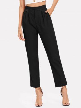 Простые плиссированные брюки