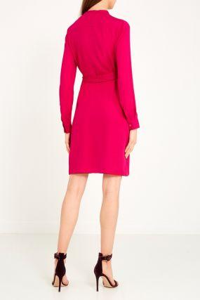 Красно-розовое платье