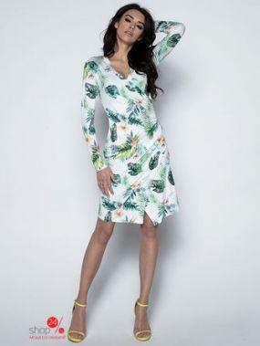 Платье Fobya, цвет белый, зеленый