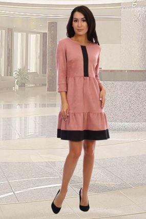 Платье замшевое Гретта (розовое)