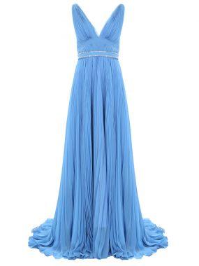 Платье вечернее шелковое