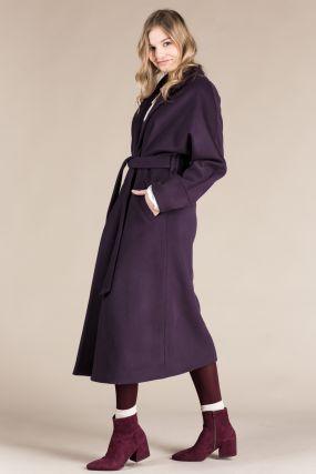 Пальто-халат Черешня с кулиской на спине фиолетового цвета (42-44)