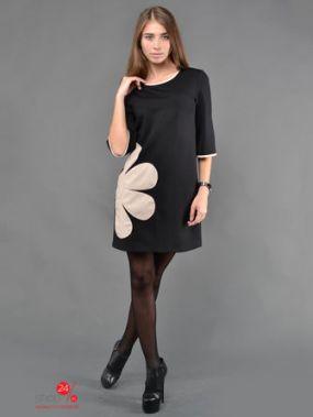 Платье TessDress, цвет черный, бежевый