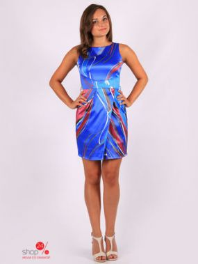 Платье Fleuretta, цвет синий, красный