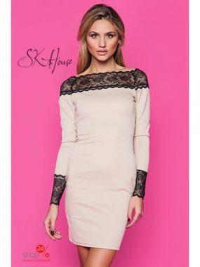 Платье SK-House, цвет бежевый