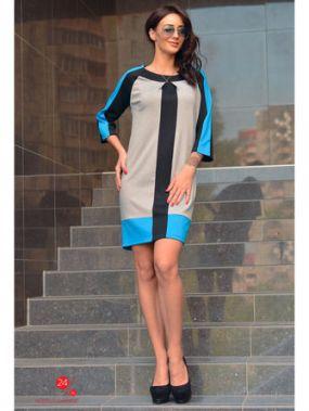 Платье Alicja, цвет серый, черный, синий