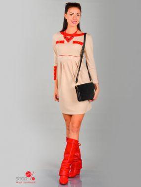 Платье Alicja, цвет бежевый, красный