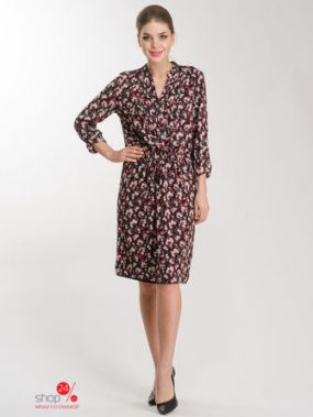 Платье Olsen, цвет красный, черный, белый