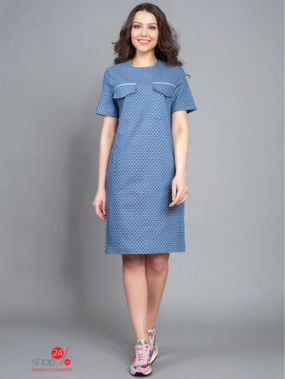 Платье BORODINA KSENIA, цвет синий, белый