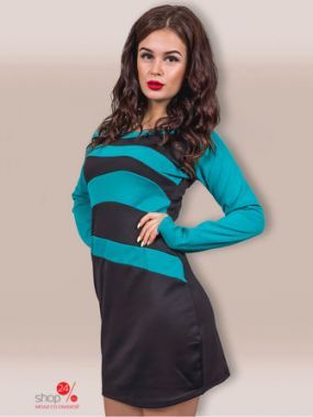 Платье COSMO, цвет бирюзовый