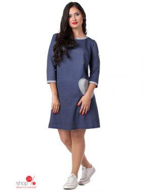 Платье Peony, цвет синий