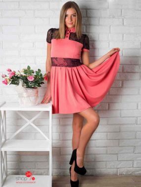 Платье LUZANA, цвет персиковый, черный