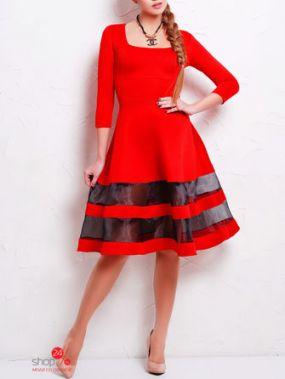 Платье Glem, цвет красный, черный