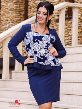Платье Marakesh, цвет синий, белый