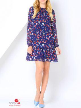 Платье La Via Estelar, цвет синий, коралловый