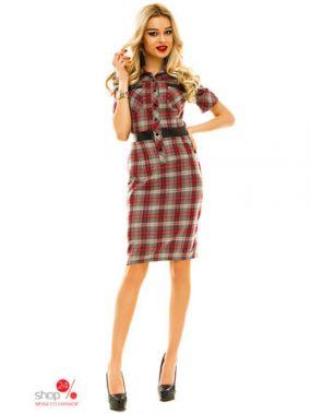 Платье Look At Fashion, цвет серый, красный
