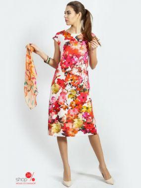 Платье Indira, цвет белый, красный