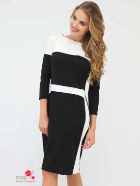 Платье Oddi, цвет черный, молочный