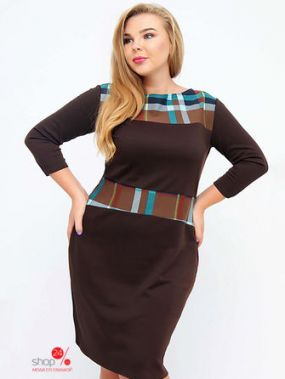 Платье Oddi, цвет коричневый