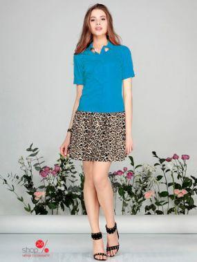 Платье Kiara, цвет голубой, бежевый, черный