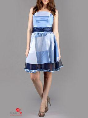 Платье LEJOLE, цвет светло-голубой, черный