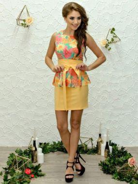 Платье Marafett, цвет желтый, мятный