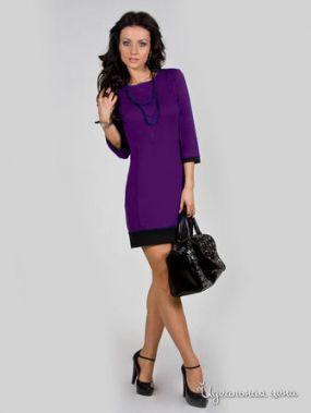 Платье La Cafe, цвет фиолетовый, черный