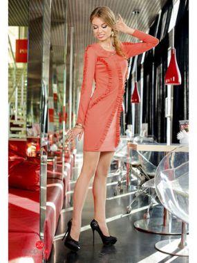 Платье Vision Fashion Store, цвет коралловый