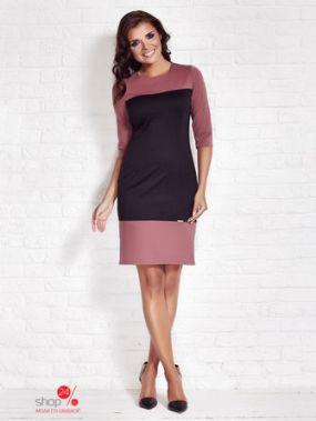Платье Awama, цвет черный, розовый