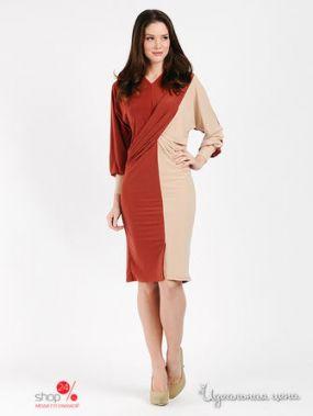 Платье МадаМ Т, цвет терракотовый, песочный