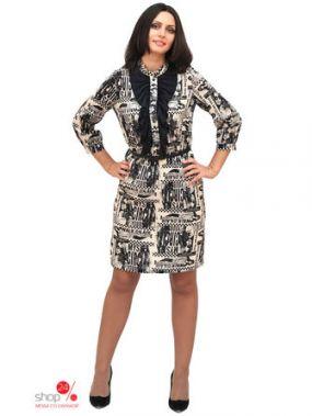 Платье Ladystyle, цвет белый, черный