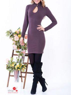 Платье Zean, цвет коричневый