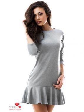 Платье Bomond, цвет светло-серый