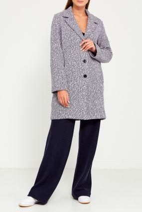 Серое меланжевое пальто