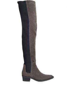 Сапоги-чулки на низком каблуке