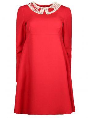 Платье с воротничком из бисера