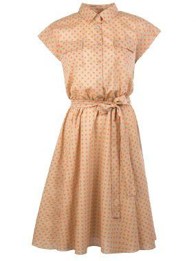 Платье с принтом в горох