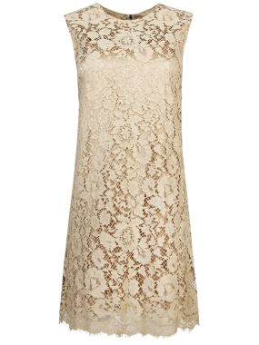Кружевное мини-платье А-силуэта