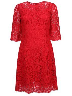 Приталенное кружевное платье