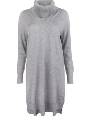 Шерстяное платье-свитер