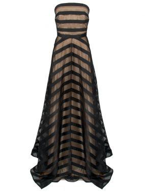 Длинное платье-бюстье