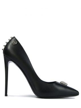 Кожаные туфли с декором