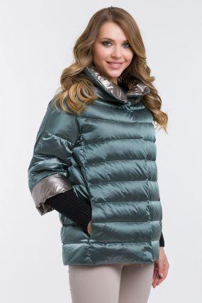 Модный женский пуховик на осень-зиму