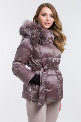 Короткий женский пуховик осень-зима