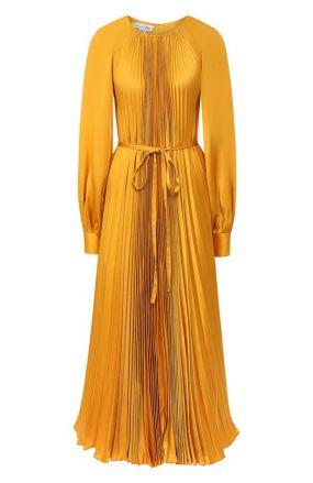 Плиссированное платье Oscar de la Renta